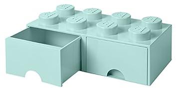 meilleur site web 6a8a6 6aa37 Tiroir en brique LEGO 8 boutons, 2 tiroirs, boîte de rangement empilable,  9.4 l