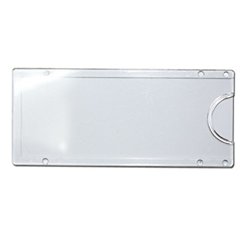 JC Handle White Wall or Door Name Plate Holder Small 80x35mm Acrylic Pack of (Small Nameplate)