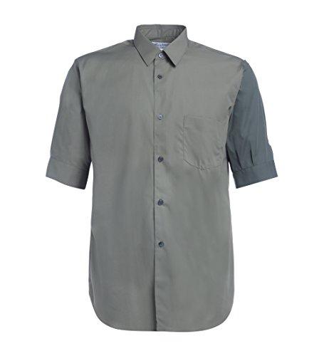 Mm Puff (Comme des Garçons Shirt Men's Kaki Shirt With Puff Sleeve M(INT)-M(US) Green)