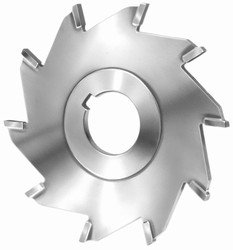 4'' Diameter x 1/4 '' Wide x 1 1/4 '' Arbor Hole, Carbide Tipped Straight Tooth Slitting Saw