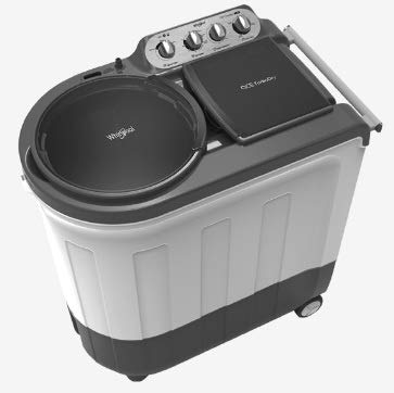 Whirlpool Ace Turbodry 8.5 Kg Semi Automatic Washing Machine (8.5 Kg) Silver Grey