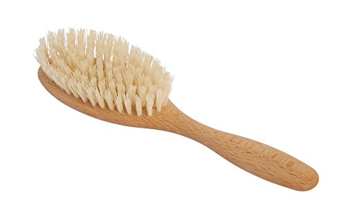 Redecker Vegan Tampico Fiber Hairbrush with Oiled Beechwood Handle, 8 inches