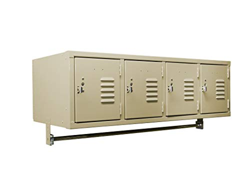Q04518WM-101 Wall Mount Locker with 4 Openings 45W x 18D x 17H Khaki Unassembled