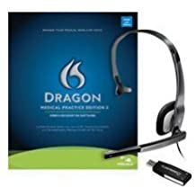 Dragon Medical Practice Edition 2 / Speech Recognition Software / Nuance PowerMic II microphone included