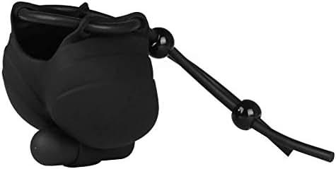 Silica Gel Delay Training Men Lacing Vibration Scrotum Bag
