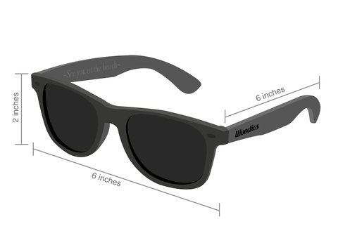 Woodies Walnut Wood Sunglasses with Black Polarized Lenses for Men or Women 7 COMFORTABLE: 50% Lighter than Ray-Bans SAFETY: Polarized Lenses Provide 100% UVA/UVB Protection EXTRAS: Includes FREE Carrying Case, Lens Cloth, and Wood Guitar Pick
