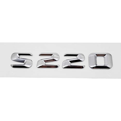 S220   Plastic for Mercedes Benz S200 S220 S250 S300 S300L S320 Car Emblem Metal Sticker Truck Accessories for Mercedes W221 W218 Auto Decal  (color Name  S200, Size  Metal)