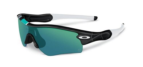 Oakley Unisex Radar Path Asian Fit Sunglasses, Pol Black/Jade Iridium, One - Oakley Polarized Asian Fit