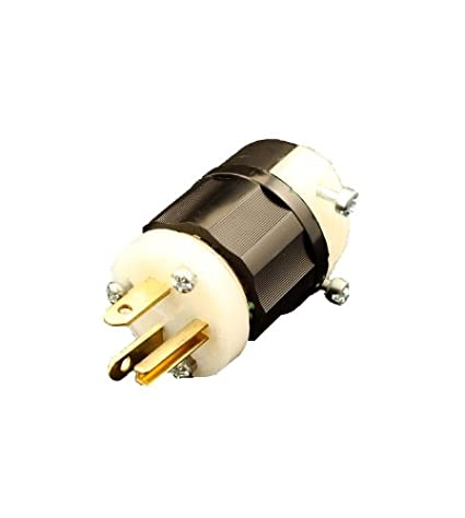 leviton 5466 c 20 amp 250 volt plug straight blade industrial rh amazon com