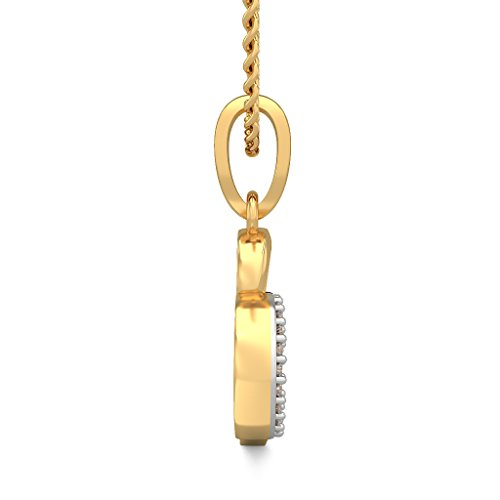 Or jaune 18 K 0,1 ct tw Round-cut-diamond (IJ | SI) Pendentif