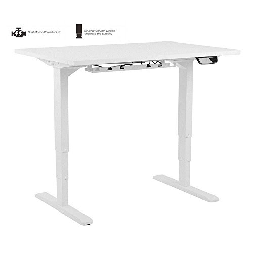 PrimeCables Electric Sit-Stand Dual-Motor Height Adjustable Desk Frame for 43 to 87 Inches Wide Table Top