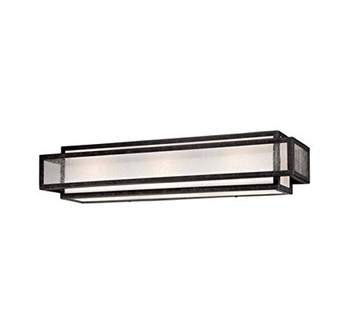 Minka Lavery 4873-283 Camden Square 3 Light Bath Lighting, Aged Charcoal Aged Charcoal