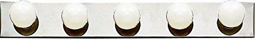 Kichler 625CH Linear Bath 30-Inch, Chrome Brass Five Light Vanity Strip