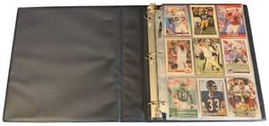 Hobbymaster Football Card Collector Album with 25 9-Pocket Pages Blue John Elway Design