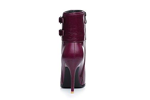 Nine SevenAnkle Boots - Botas mujer granate