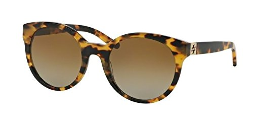 Tory Burch TY7079 TY7079 Sunglasses 1474T5-54 - Spotty Tort Frame, Brown Gradient - Tory Polarized Burch