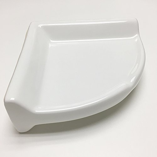 Ceramic Shower Accessories - Corner Shower Shelf-Large (Ceramic)