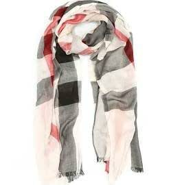 Burberry Check Modal Cashmere Silk Scarf - Stone