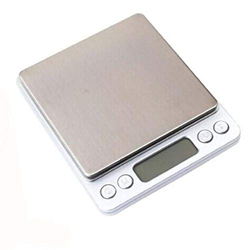Islandse0.1Gram Precision Jewelry Electronic Digital Balance Weight Pocket Scale 3000g Silver