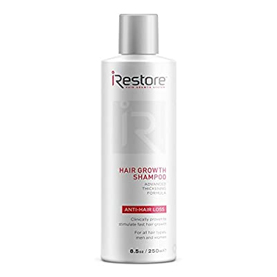 iRestore Hair Growth Shampoo with Redensyl, Essential Amino Acids, Aloe Vera, Green Tea Extract, and More - Perfect for Balding & Thinning Hair - For All Hair Types, Men and Women (8oz / 237ml)