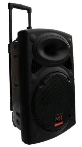 Mobile PA Sound Anlage Akku-MP3-USB-SD inkl. Funkmikrofone 700W Soundsystem E-Lektron EL30-M