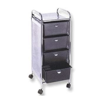 rolling cart with drawers pibbs d27 4 drawer rolling cart with metal 25618