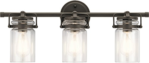 Kichler Lighting 45689OZ Three Light Bath from The Brinley Collection, Bronze/Dark