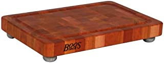 product image for John Boos Block CHY-1812175-SSF Cherry Wood End Grain Butcher Block Cutting Board with Juice Groove and Stainless Steel Feet, 18 Inches x 12 Inches x 1.75 Inches