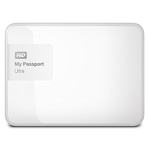 WD 3TB White My Passport Ultra Portable External Hard Drive - USB 3.0 - WDBBKD0030BWT-NESN [Old Model] (Renewed)