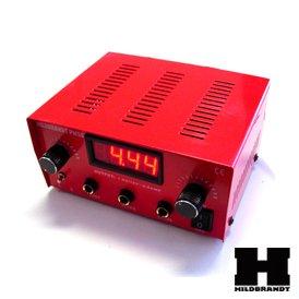 Authentic HILDBRANDT Abrams Dual Machine Tattoo LCD Power Supply Unit AC Phono Box Red 2 - Box Tattoo Power Supply Gun
