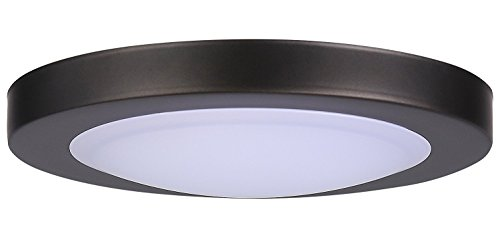 Cloudy Bay 7.5 inch LED Flush Mount Ceiling Light 5000K Day Light Dimmable 12W 840lm -100W Incandescent Fixture Equivalent,ORB Wet Location