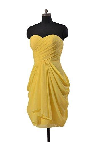 Daisyformals Femmes Robe De Soirée Bustier Courte Robe De Demoiselle D'honneur En Mousseline De Soie (de Bm643s) # 22 Orange