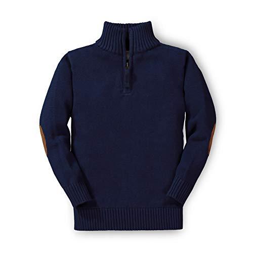 Hope & Henry Boys' Half Zip Pullover Sweater Navy