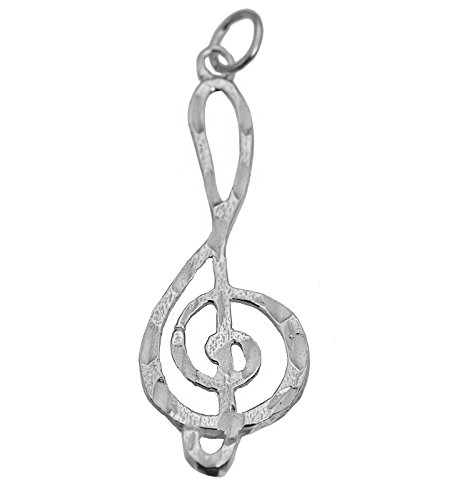 Prince of Diamonds Inc Music Note Treble Clef Real Sterling Silver .925 Charm musical symbol Jewelry