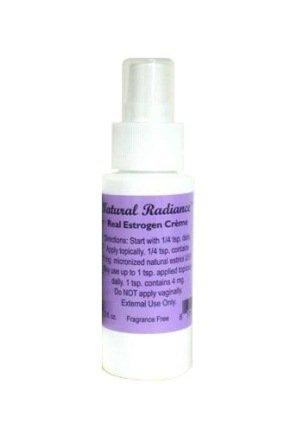 Eclat Naturel Estrogen / Estriol Bioidentical Crème pompe mesurée Bouteille, 2 once