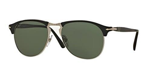 Persol Men's PO9649S Sunglasses Terra E Oceano / Polar Grey 52mm & Cleaning Kit - Oceano Sunglasses