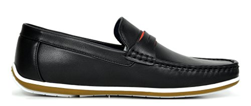 Bruno Marc Men's BUSH-01 Black Driving Loafers Moccasins Shoes – 9.5 M US