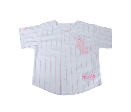 Majestic Toddler/Infant/Big Kid's Chicago White Sox White/Pink Girls Jersey (12 Big Kid's)