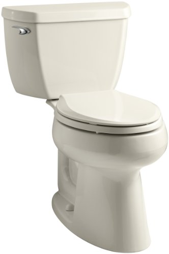 Toilet 47 Highline Bowl - Kohler K-3658-47 Highline Classic Class Five Comfort Height Toilet with Left-Hand Trip Lever, Almond