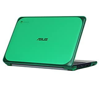"""mCover iPearl Hard Shell Case for 11.6"""" ASUS Chromebook C202SA Series Laptop - Green"""