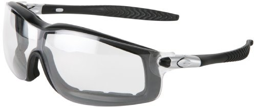 MCR Safety RT110AF Rattler Nylon Indirect Vented Elastic Strap Dielectric Glasses with Black Frame and Clear Anti-Fog Lens by MCR Safety