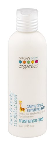 Nature's Baby Organics Face & Body Moisturizer, Fragrance Free, 8 oz. | Aloe & Jojoba Oil for Babies, Kids, Adults! Gentle, Rich, Hypoallergenic | No Synthetics, Parabens, SLS, or (Nature Hypoallergenic Moisturizer)