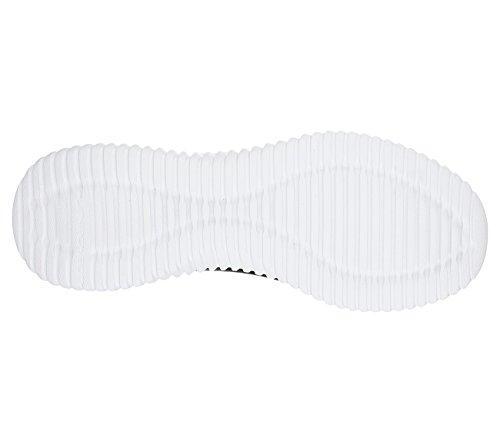 Skechers Elite Flex Herren runde Zehe synthetische graue Turnschuhe Weiß schwarz