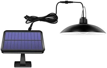 Colgante al aire libre luz solar, 16 LED lámpara de jardín Shed lámpara IP65 a prueba de agua cubierta solar luz pendiente, Negro Shell, blanco cálido: Amazon.es: Iluminación