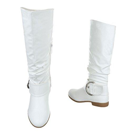 Ital-Design - Botas de Material Sintético para mujer Weiß