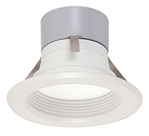Satco S9124 LED Downlight Retrofit 4' Baffle 3000K Medium Base Dimmable Light Bulb, 8.5W