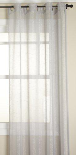 Stylemaster Dazzle Metallic Sheer Grommet Panel, Platinum, 53 by 84-Inch -