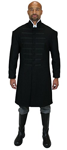 Historical Emporium Men's Field Marshal Wool Coat 36 Black