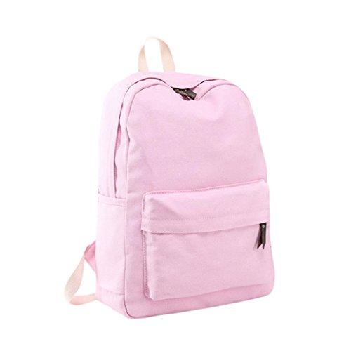 Lanhui_Girls Exquisite Canvas Preppy Shoulder Bookbags School Travel Backpack Bag - 90s Preppy