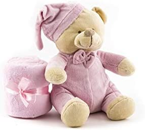 Duffi Baby Manta y Peluche S.L 90 x 75 cm Color Rosa Master Baby Home 4076-06